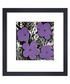 Purple flowers framed print  Sale - Andy Warhol Sale