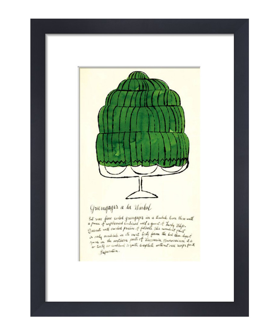 Green Wild Raspberries framed print Sale - Andy Warhol
