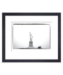 Statue Of Liberty white framed print