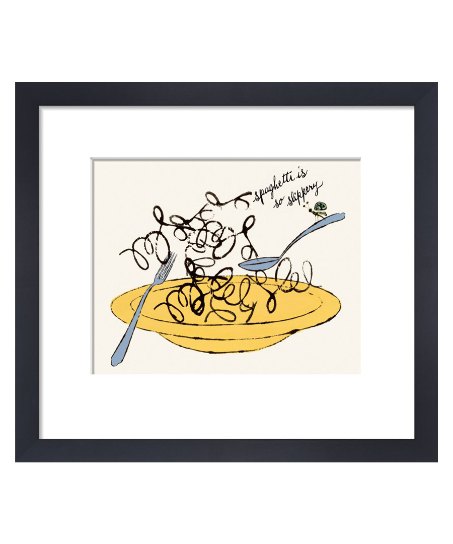 Spaghetti Is So Slippery framed print Sale - Andy Warhol