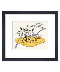 Spaghetti Is So Slippery framed print