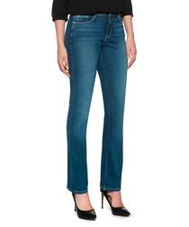 Marliyn blue cotton blend straight leg jeans