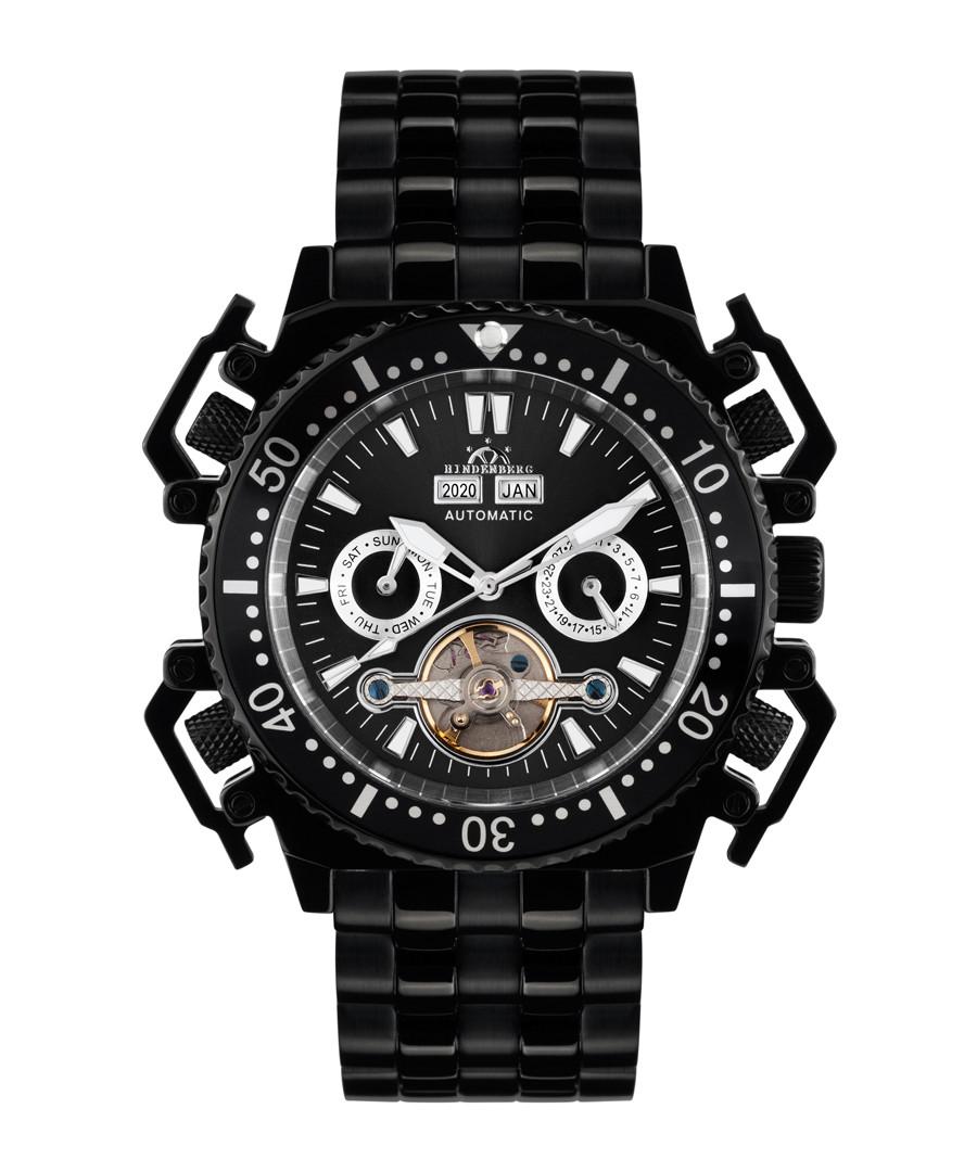 Challenge II black steel watch Sale - hindenberg