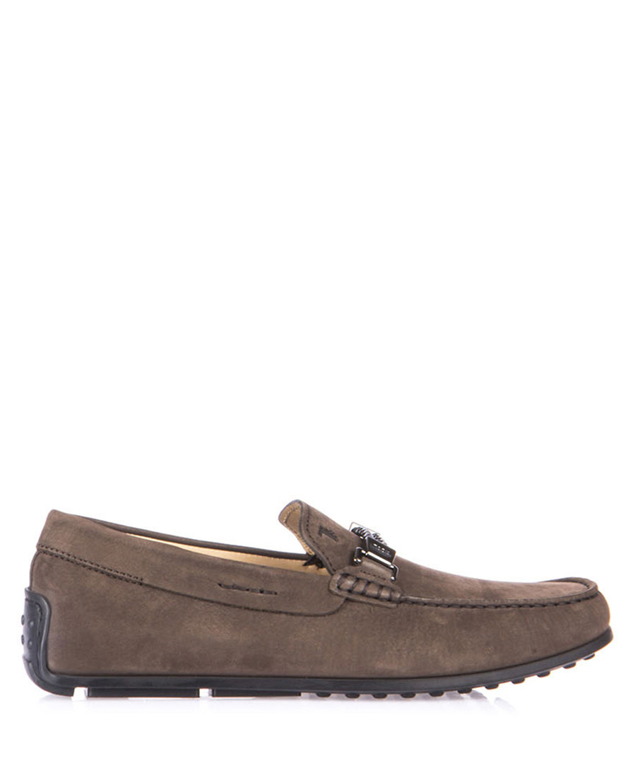 Men's brown leather horsebit loafers Sale - tod's