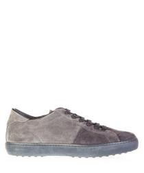Men's grey & taupe suede sneakers