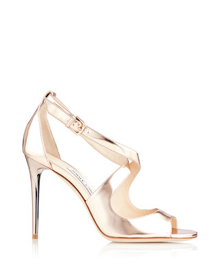 8f113475568e Emily 100 gold-tone leather sandals Sale - Jimmy Choo Sale