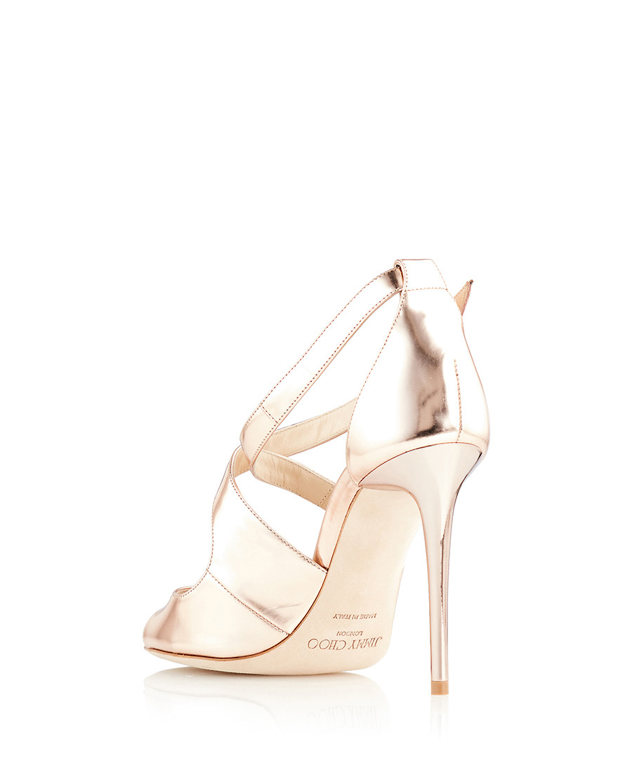 c0cfaaf1a749 ... Emily 100 gold-tone leather sandals Sale - Jimmy Choo ...
