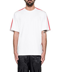 White & red pure cotton T-shirt