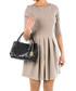 Black embossed leather grab bag Sale - anna morellini Sale