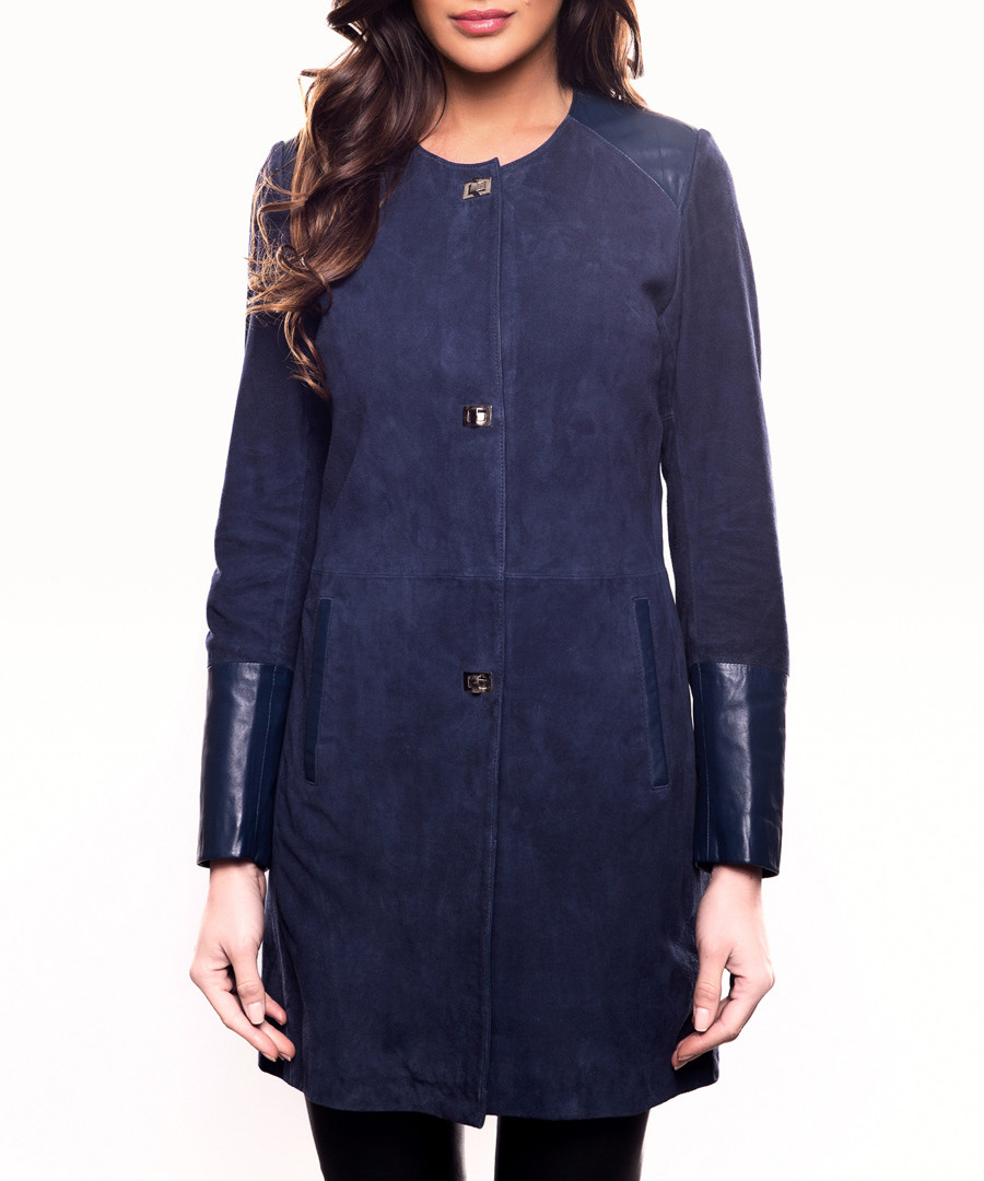 Iolanda marine leather coat Sale - john & yoko