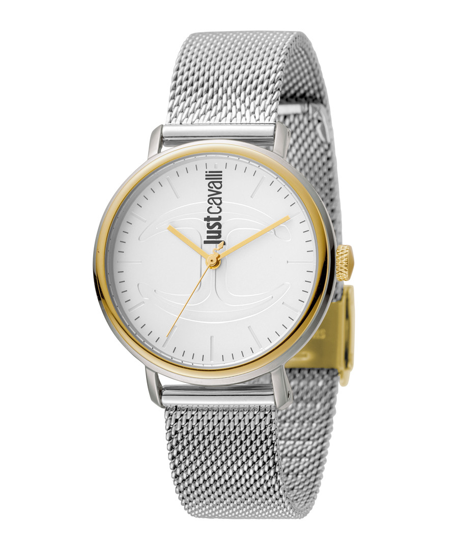 Dual-tone numberless dial watch Sale - just cavalli