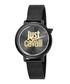 Black & gold-tone logo mesh strap watch Sale - JUST CAVALLI Sale