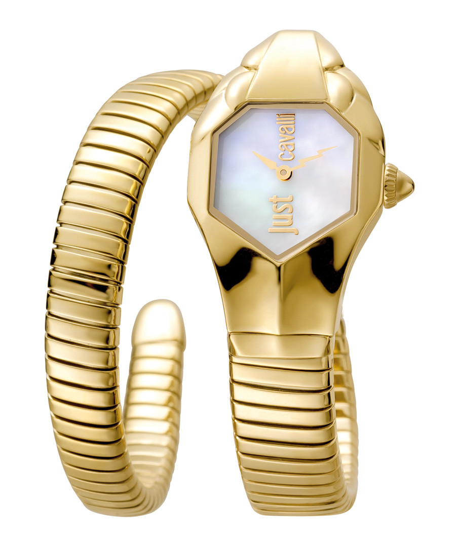 Gold-tone serpent watch Sale - just cavalli