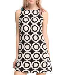 Multi-coloured cotton blend shift dress