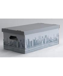 Grey cityscape storage box set