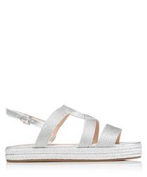 Kleo silver flatform sandals
