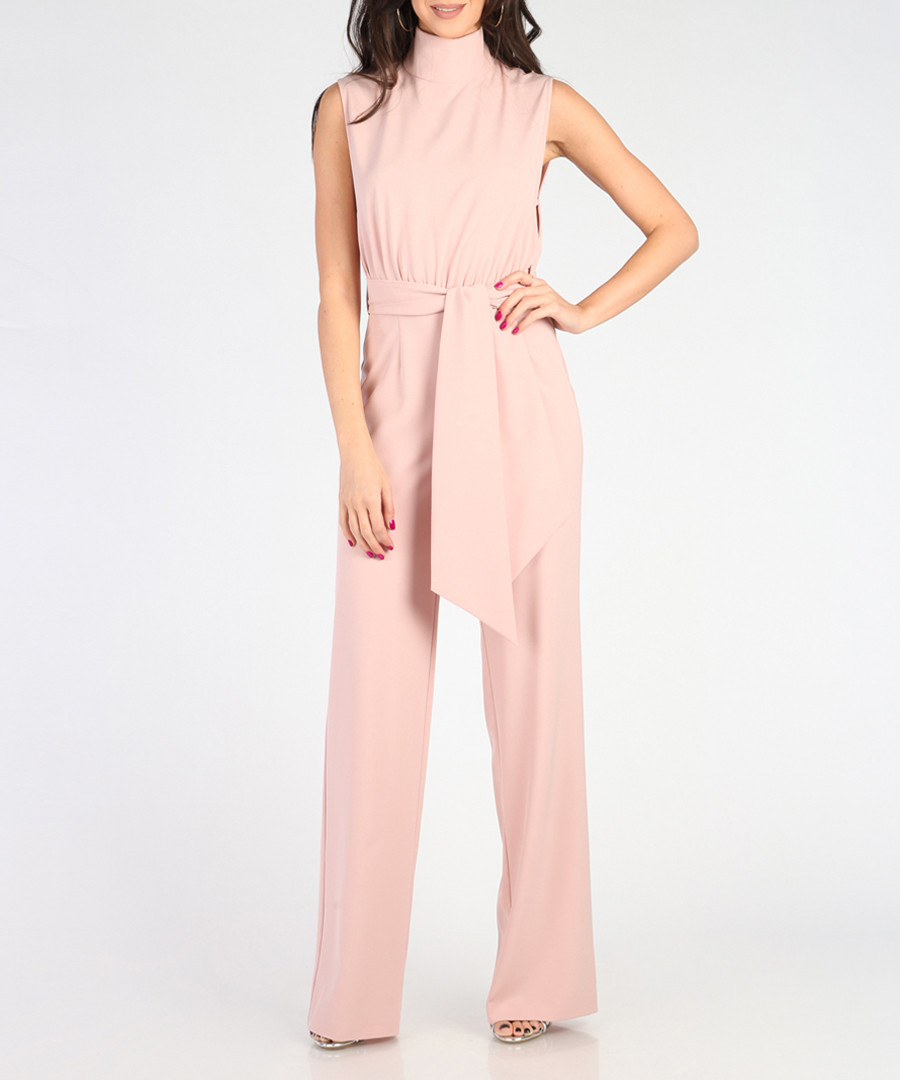 Light pink high-neck flared jumpsuit Sale - CARLA BY ROZARANCIO