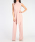 Light pink high-neck flared jumpsuit Sale - CARLA BY ROZARANCIO Sale