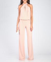 Light pink halterneck jumpsuit