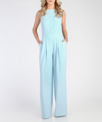 Light blue wide leg jumpsuit