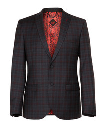 Hanwell charcoal wool blend blazer
