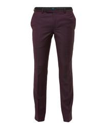 Granby burgundy wool blend trousers