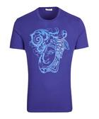 Blue pure cotton ornate T-shirt