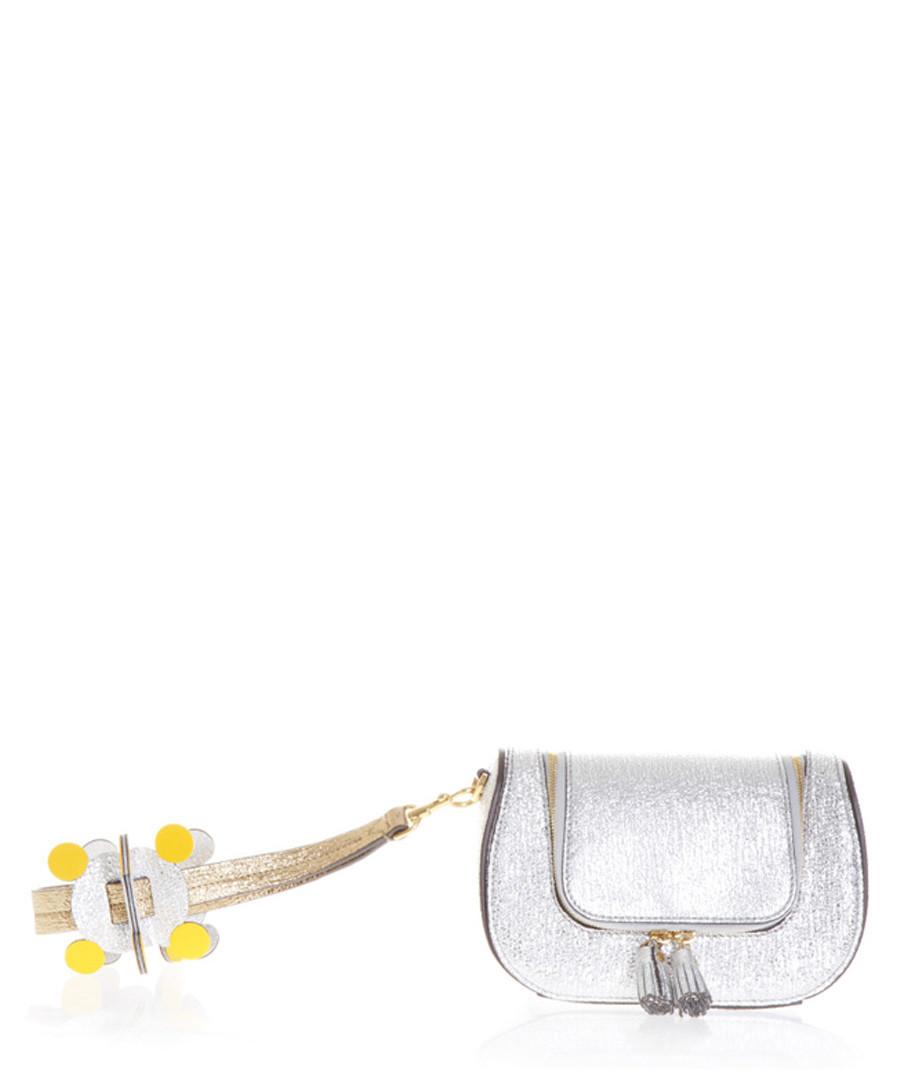 Circulus silver-tone leather clutch bag Sale - Anya Hindmarch