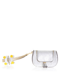 Circulus silver-tone leather clutch bag