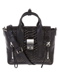 Pashli Mini black leather grab bag
