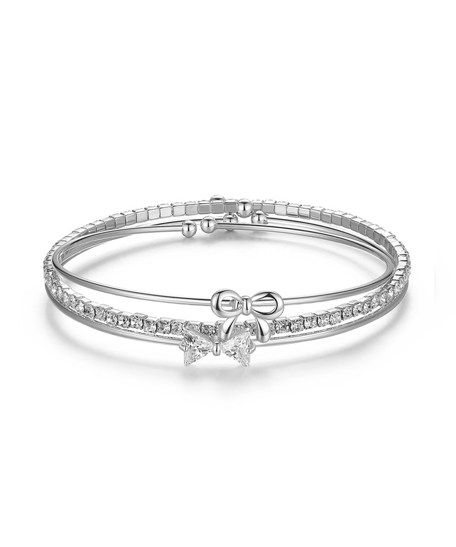 Knots 18ct white gold-plated bracelet  Sale - caromay