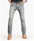 Light grey cotton blend jeans Sale - kuegou Sale