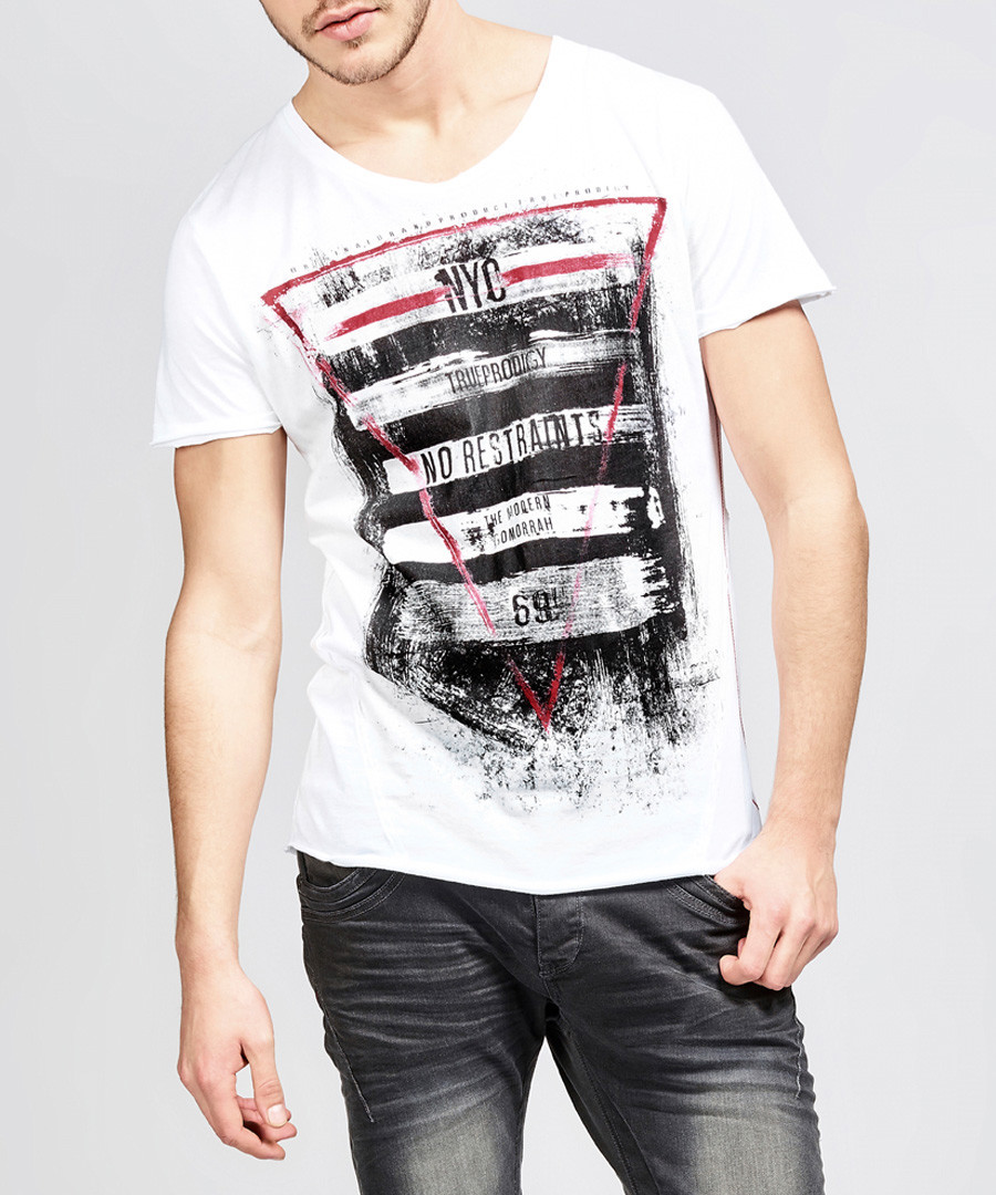 The Warrior white pure cotton T-shirt Sale - true prodigy