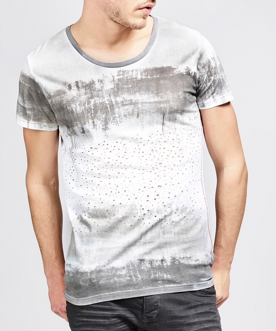 Cloudy grey pure cotton T-shirt Sale - true prodigy