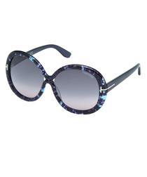 Giselle blue marbled sunglasses