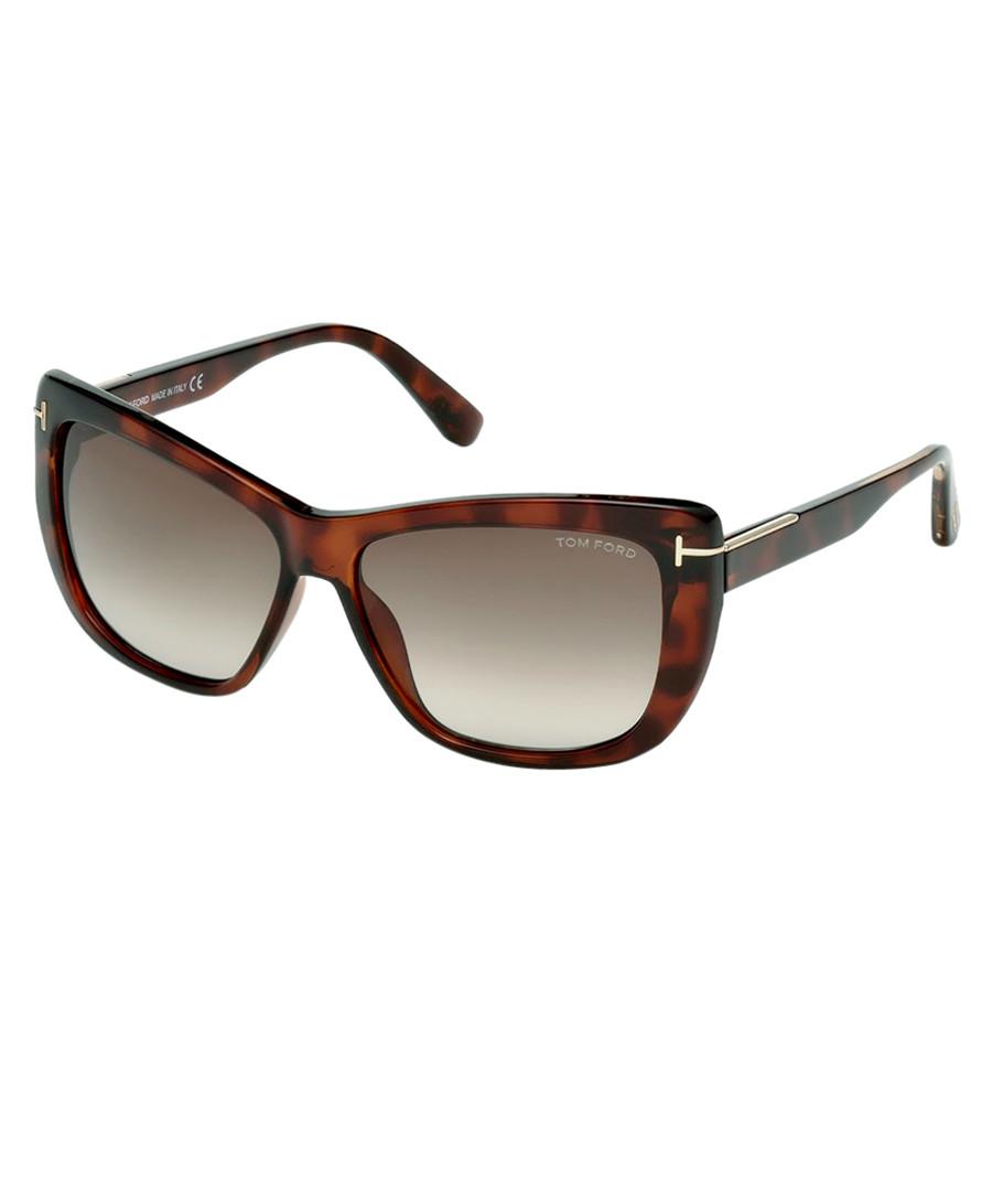 3485865853d Lindsay dark havana   brown sunglasses Sale - Tom Ford