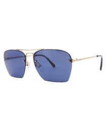 Walker blue & gold-tone sunglasses
