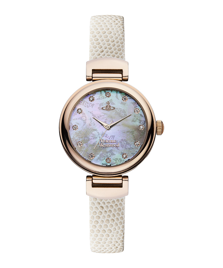 Hampton rose gold-tone & white watch Sale - Vivienne Westwood