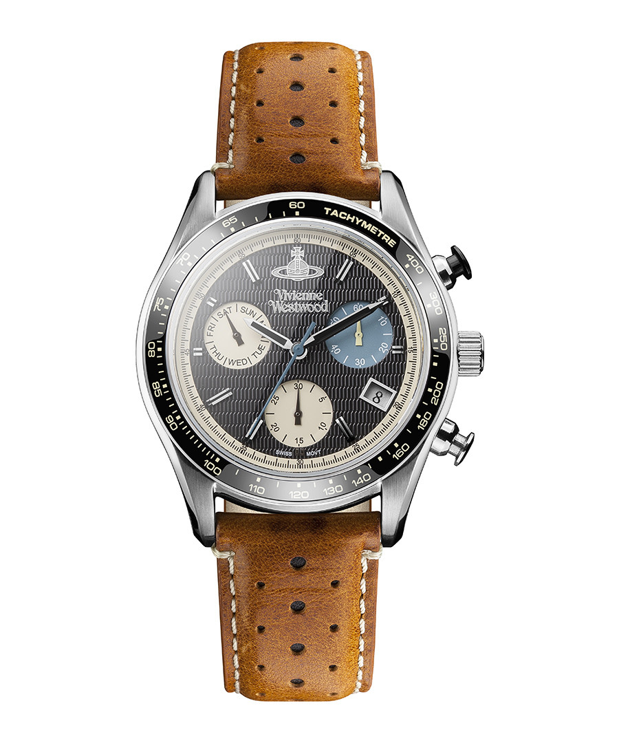 Sotheby tan leather perforated watch Sale - Vivienne Westwood
