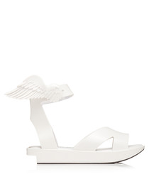 Rocking Horse white rubber sandals