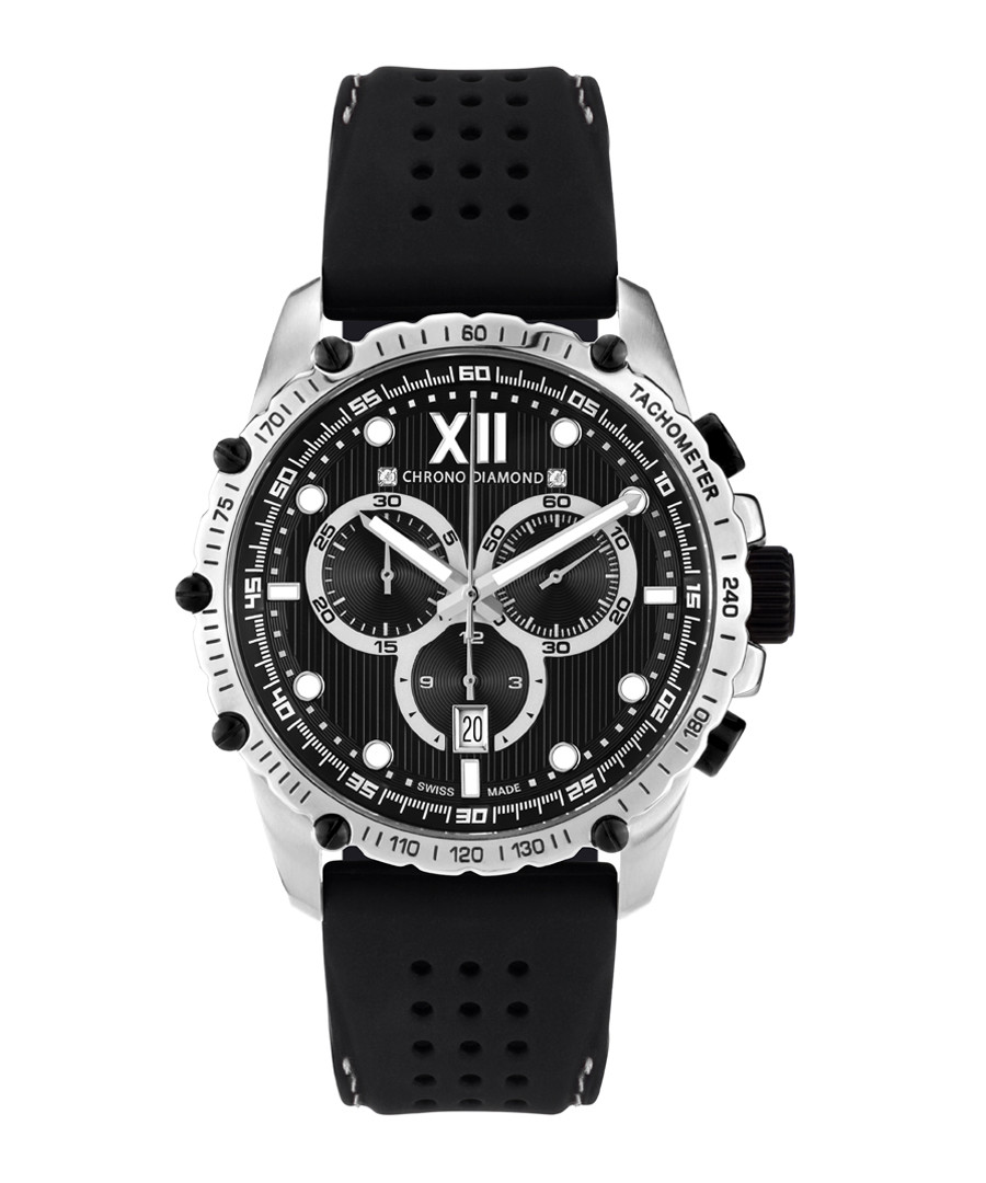 Neelos silver-tone diamond watch  Sale - chrono diamond
