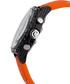 Neelos orange & black diamond watch Sale - chrono diamond Sale