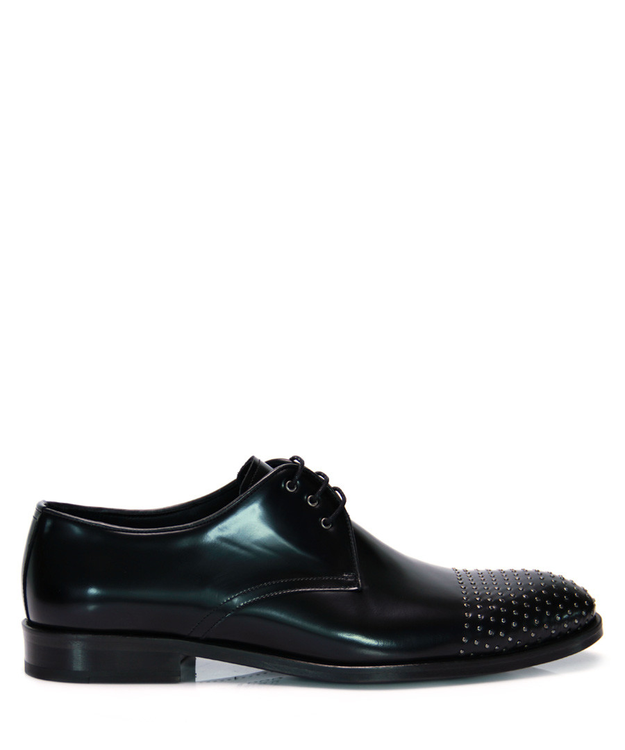 Black patent leather detail Derby shoes  Sale - REPRISE