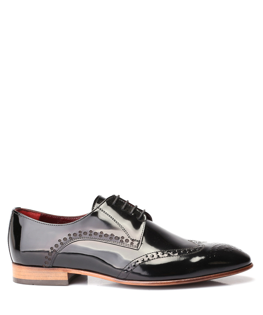 Black patent leather Derby shoes Sale - deckard