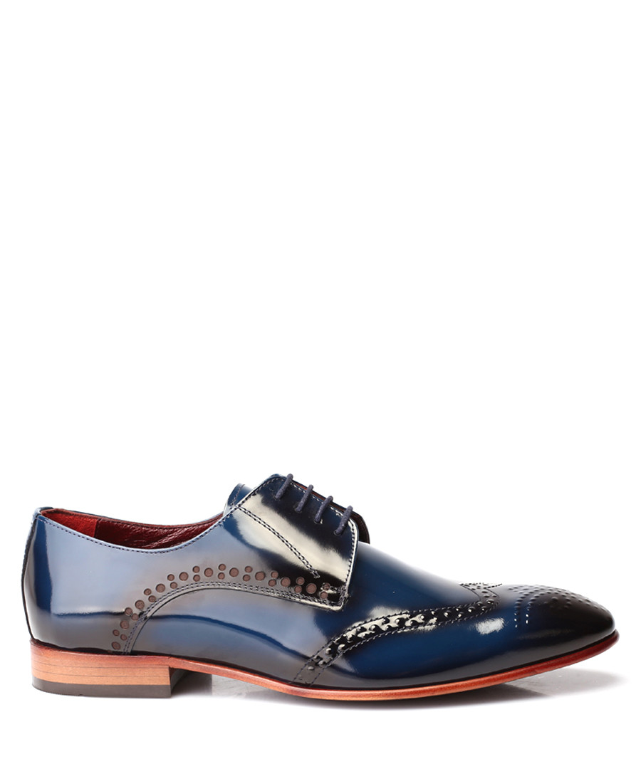Navy patent leather Derby shoes Sale - deckard