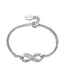 Infinitely Yours silver-tone bracelet