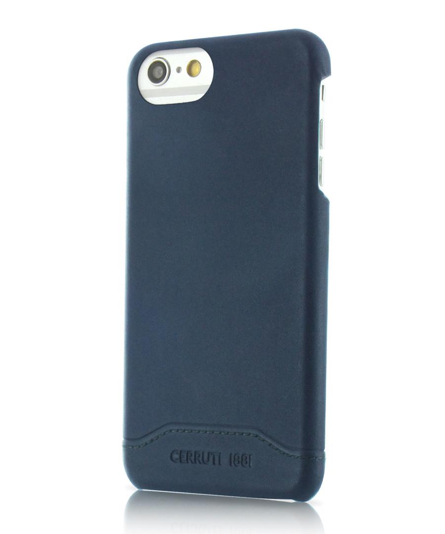 Blue leather iPhone 7+ case Sale - cerruti