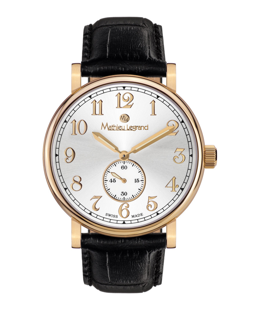 Classique steel & leather watch Sale - mathieu legrand