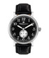 Classique steel & black leather watch Sale - mathieu legrand Sale