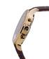 Herrenuhr Orbite brown leather watch Sale - mathieu legrand Sale